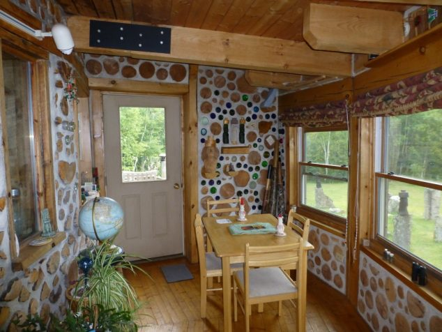 The Creativity To Build Natural Cord Wood Home In 13 Images