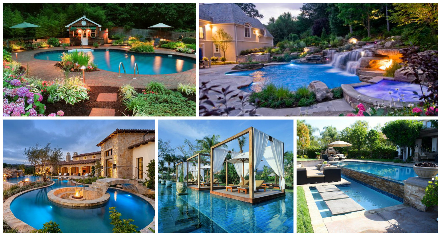 16 Garden And Backyard Swimming Pool Stepping Ideas that ... on Dream Backyard With Pool id=33884
