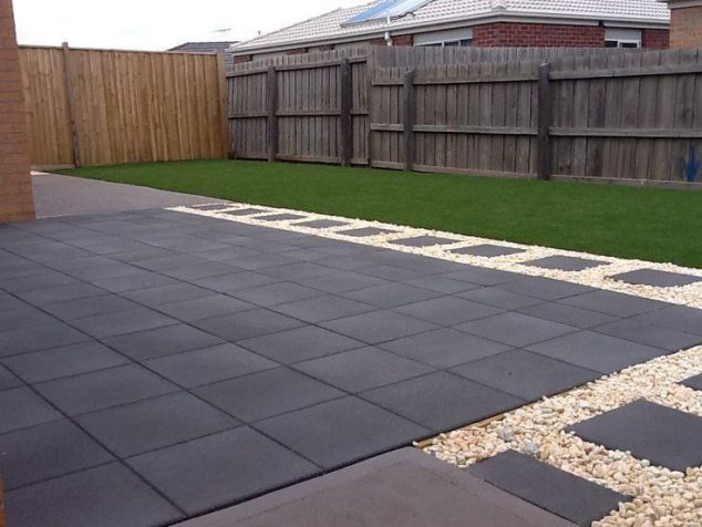 15 Ideas for White Sensation in Garden Landscaping With ... on Backyard Pebble Ideas  id=40031