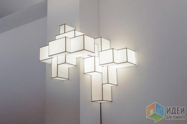 neobychnye svetilniki geometriya pod potolkom 8FY19p4e8odS7TK4dGFz 634x420 15 Impressive Wall Lamp Design to Bless the Walls in The Living Place