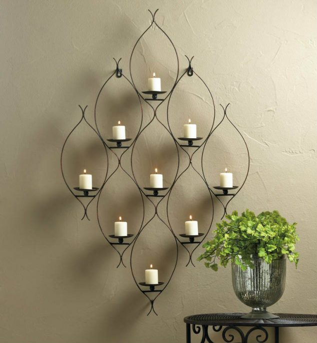 15 Chic Wrought Iron Wall Candle Holders You Will Admire on Metal Candle Holders For Wall id=31450