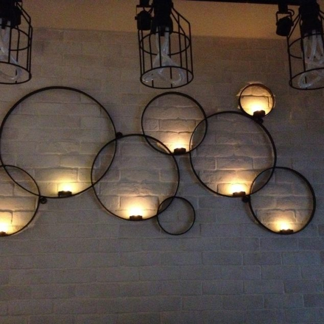 15 Chic Wrought Iron Wall Candle Holders You Will Admire on Metal Candle Holders For Wall id=18965
