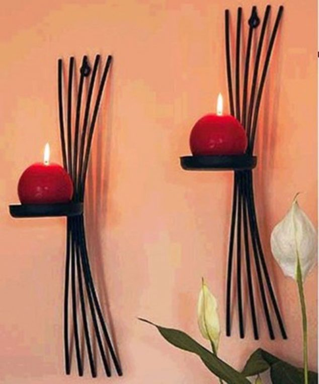 15 Chic Wrought Iron Wall Candle Holders You Will Admire on Wall Sconces Candle Holders id=44122