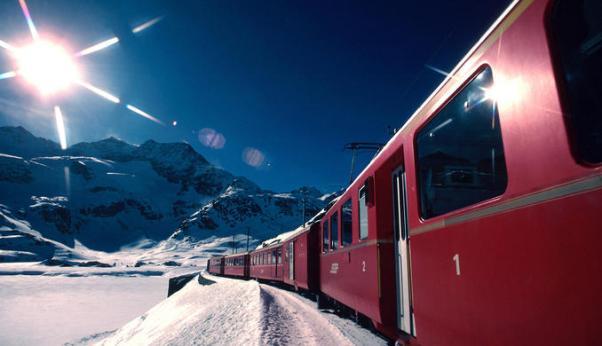 Skitrein naar de Alpen