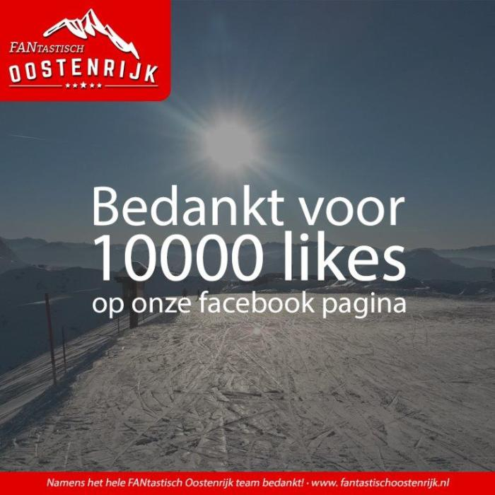10000 Likes op Facebook