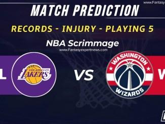 LAL vs WAS Dream11 Team Prediction