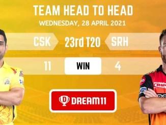 CSK vs SRH Today Dream11 Team Prediction