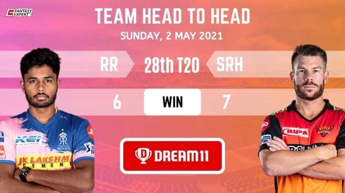 RR vs SRH Today Dream11 Team Prediction