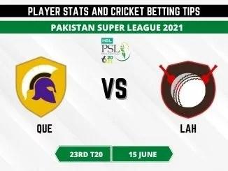 QUE vs LAH Dream11 Prediction