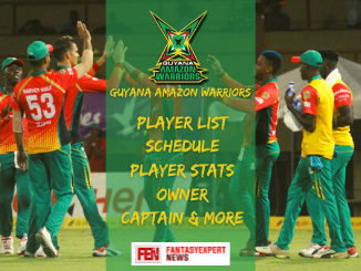 Guyana Amazon Warriors CPL 2021 Team Squad, Players Stats, Schedule, Owner, Captain, Jersey, Twitter link