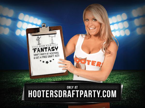 Free stuff for hosting fantasy football draft at Hooters