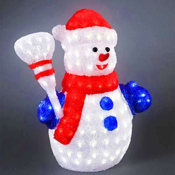 LED Snowmen With Broom