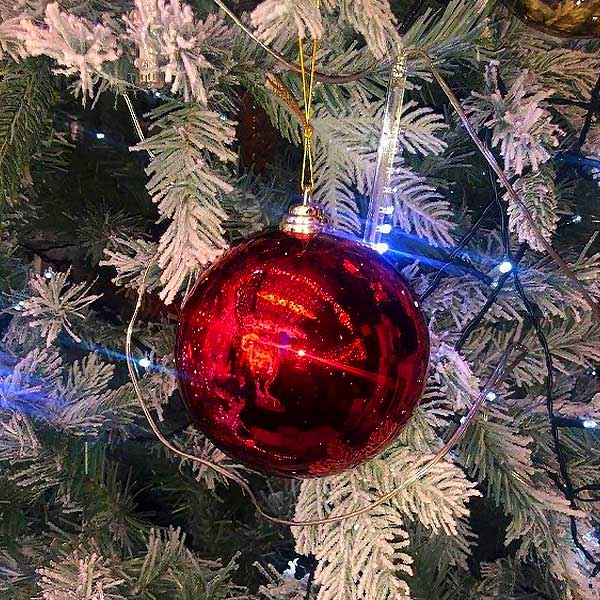 LED Red Bauble