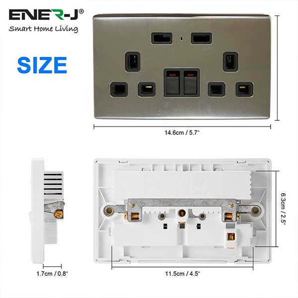 13A-WiFi-Twin-Wall-Sockets-with-2-USB-Ports-Silver 2