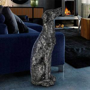 Black Silver Greyhound