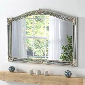 Overmantle Silver Mirror