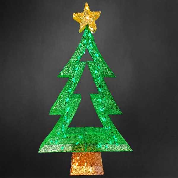 Prelit Fabric Mesh Christmas Tree