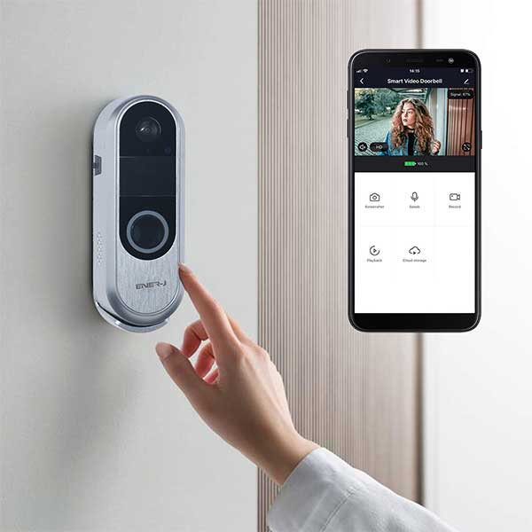 Premium Slim Doorbell, 2 way audio 4