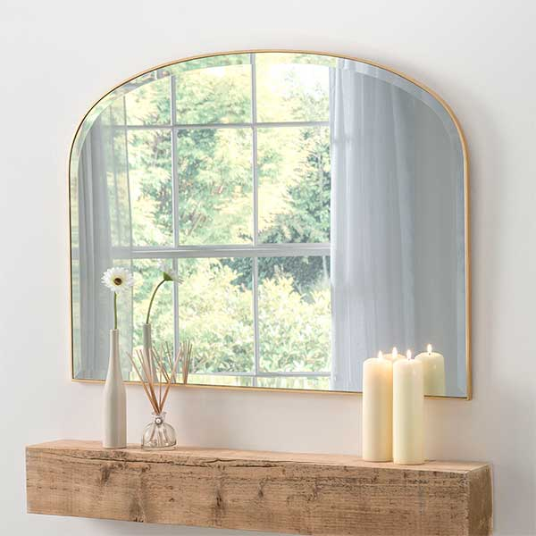 Simple Mantle Gold Mirror