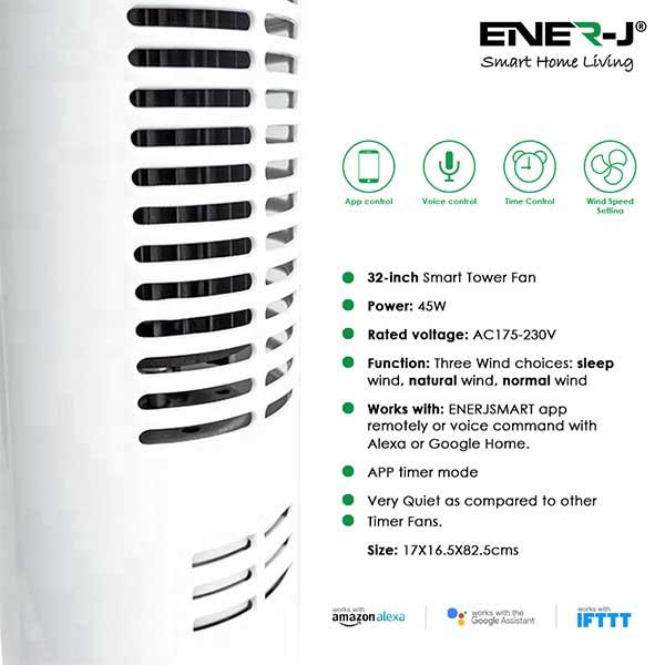 Smart WiFi Tower Fan 2
