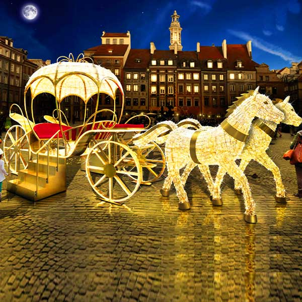 3D Horse & Carriage