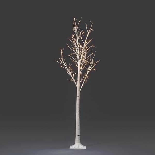 LED White Birch Tree