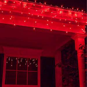 LED red Icicle lights