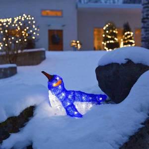 LED Acrylic Laying Penguin