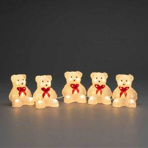 Acrylic 3D Bears Set