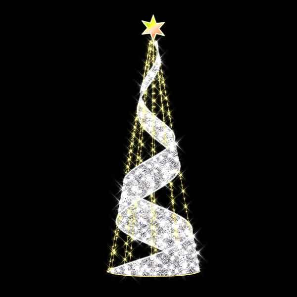 3D Silver Spiral Christmas Tree
