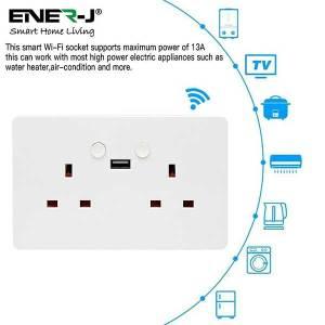 Smart WiFi Double Socket With USB