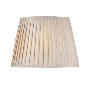 Taupe Faux Silk Tapered Drum Shade