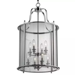8 light chrome hanging lantern