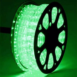 Green LED Rope Light