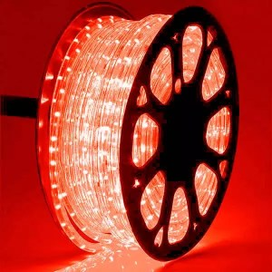Red LED Rope Light 50 Mtr Roll