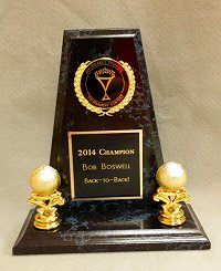 This trophy is on its way to Bob Boswell, winner of the 2013 and 2014 Affordable Trophies Invitational Tournament Contest!