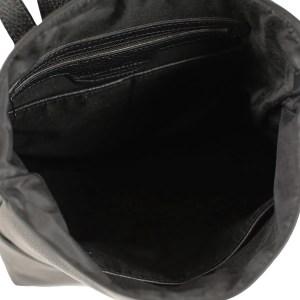 Scompartimenti interni zaino donna in pelle nero Fantini Pelletteria