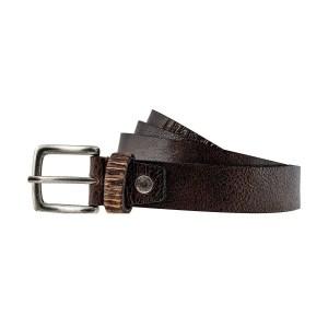 Cintura in vera pelle marrone scuro Fantini