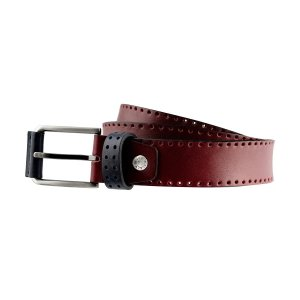 Cintura in pelle bordeaux Fantini Made in Italy