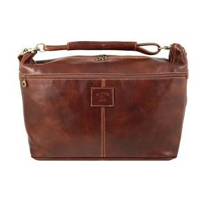 Borsa da viaggio cuoio vera pelle Firenze bagaglio a mano in pelle made in Italy manico in pelle tracolla regolabile