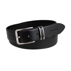 Cintura pelle uomo Fantini elegante nera fibbia quadrata Made in Italy passante in pelle cintura artigianale