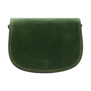 Borsa verde - borsetta verde - borsa cuoio verde - borsetta a tracolla - borsa postina