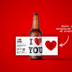 Kærlighed på flaske - Økologisk specialøl med personlig hilsen - Perfekt til Valentins Dag