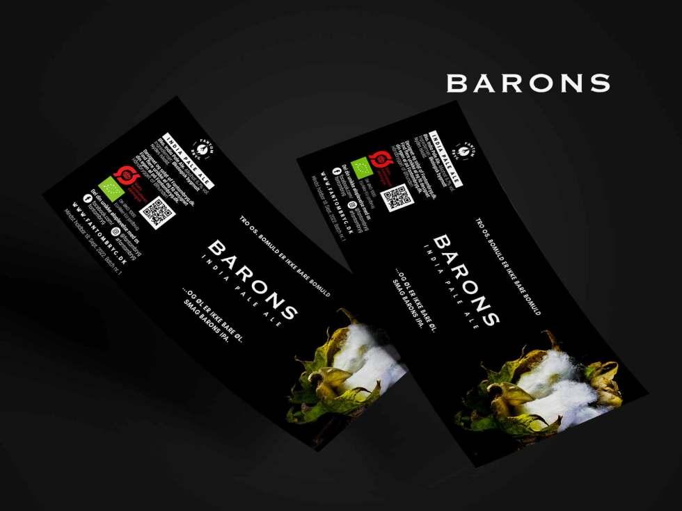 Specialøl med unik etikette til Barons