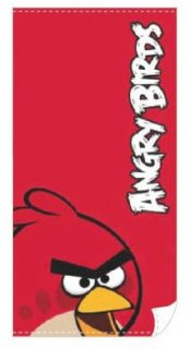 handtuch angry birds red bird 140x70cm