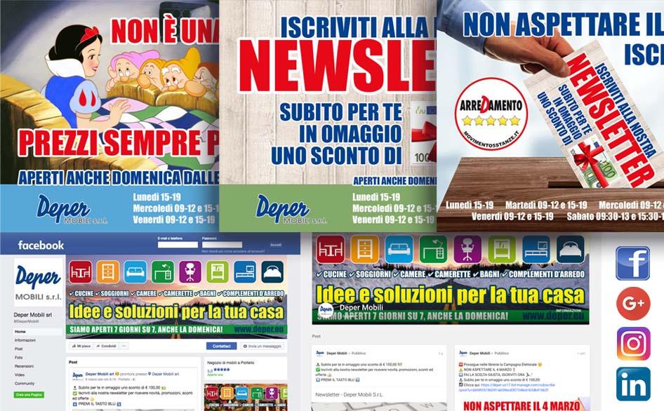 Bonetti realizza camerette su misura a monza e milano. Deper Mobili Social Media Managing