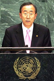 Mr. Ban Ki-moon, Secretario General de las Naciones Unidas (ONU)