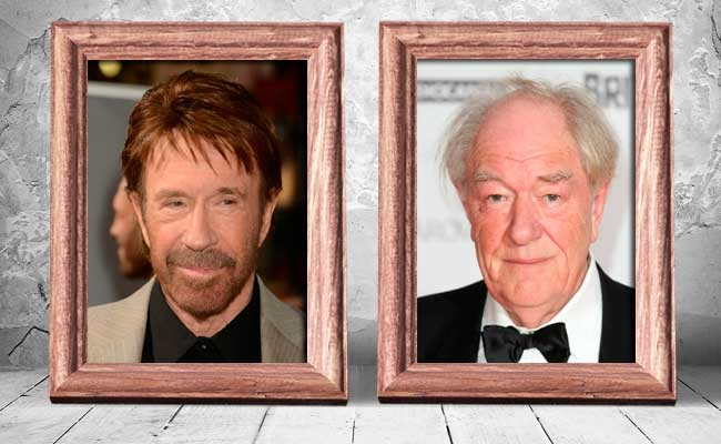 Chuck-Norris-and-Michael-Gambon-—-74-years-old