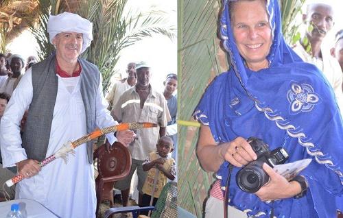 القائم باعمال السفارة الامريكية اسمرا السيد لويس مازيل ونائبته السيدة لوري داندو فى تكرريت (المصدر : صفحة السفارة الامريكية على الفيس بوك)