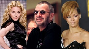 Conciertos 2012, Paul McCartney, Madonna, Rihanna, Ringo Starr, Lady Gaga, Foo Fighters
